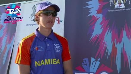 Interview with Lohandre Louwrens of Namibia, the first centurion at the ICC Men's World T20 Africa Region Qualifier C