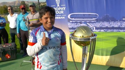 Ten-year-old wonderkid Aryan Chowdhury joins the CWC Trophy Tour, USA