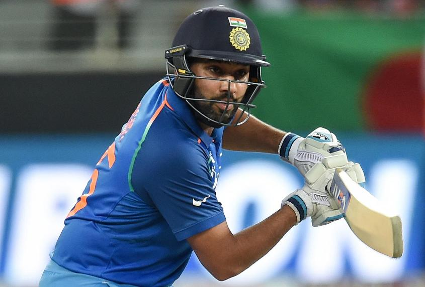 Rohit Sharma brought up his 37th ODI half-century