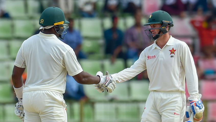 Hamilton Masakadza and Sean Williams were the chief run-makers for Zimbabwe on day one