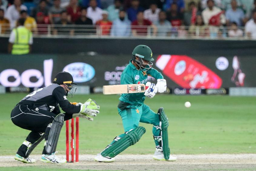 38-year old Hafeez propelled Pakistan to a decent total with his unbeaten 53
