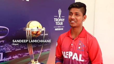 The Men's Cricket World Cup Trophy Tour hits Nepal