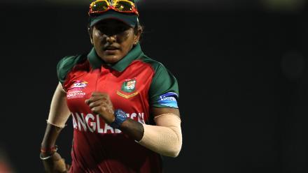 Lata Mondal of Bangladesh during the warm up match between Bangladesh v Pakistan: Warm Up - ICC Women's World T20 2018 November 6, 2018 at the Guyana National Stadium in Providence, Guyana.