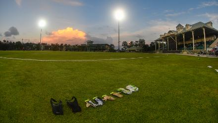 Coolidge Cricket Ground during the ICC Women's World T20 2018 warm-up match between Ireland and Sri Lanka on November 7, 2018 in Coolidge, Antigua and Barbuda.