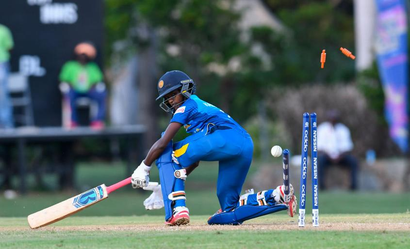 Dilhari was bowled during Sri Lanka's warm-up defeat to Ireland