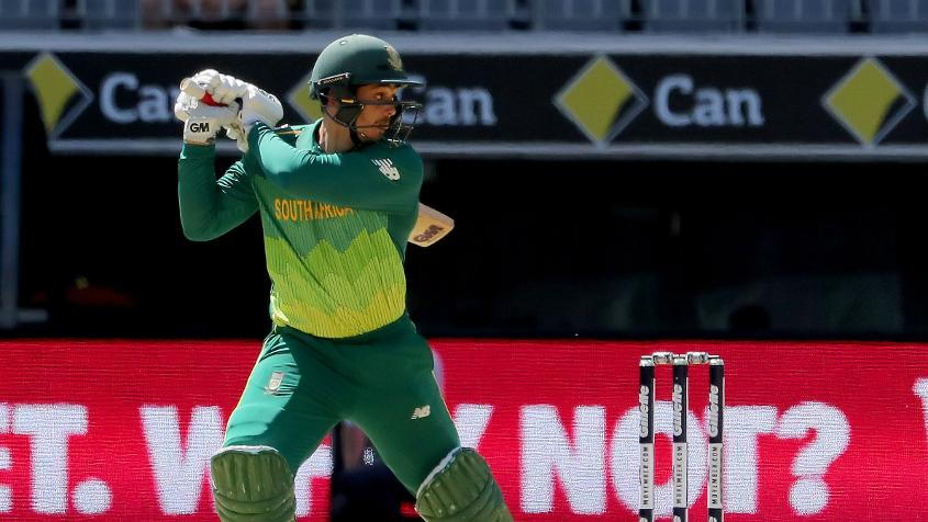 Quinton de Kock looked fluent in his knock of 47 in the first match
