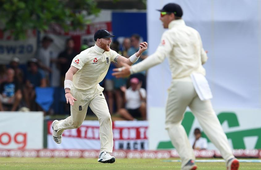 Stokes took three catches and bowled a fierce spell