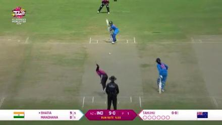 NZ v IND: Taniya Bhatia falls to Lea Tahuhu