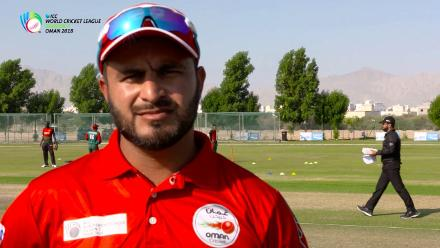 WCL Div 3 – Oman captain Zeeshan Macsood speaks before game against Kenya