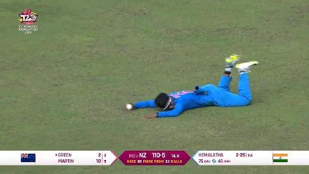 NZ v Ind: Deepti Sharma takes a diving catch