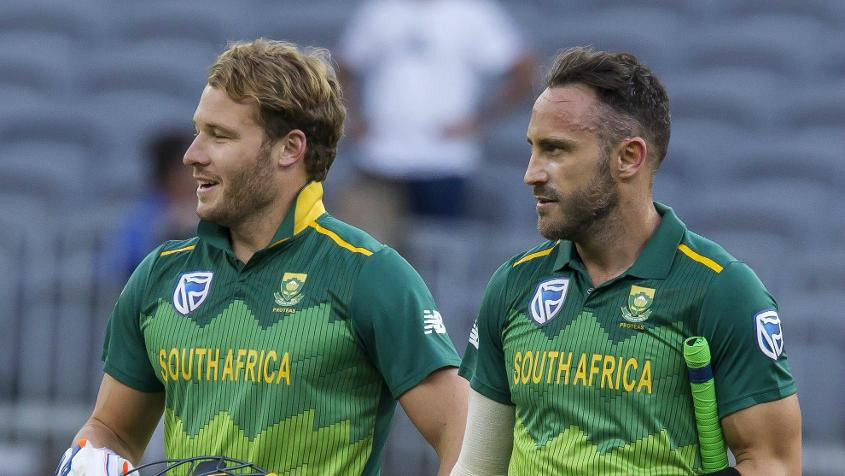 Miller and du Plessis starred with the bat for South Africa
