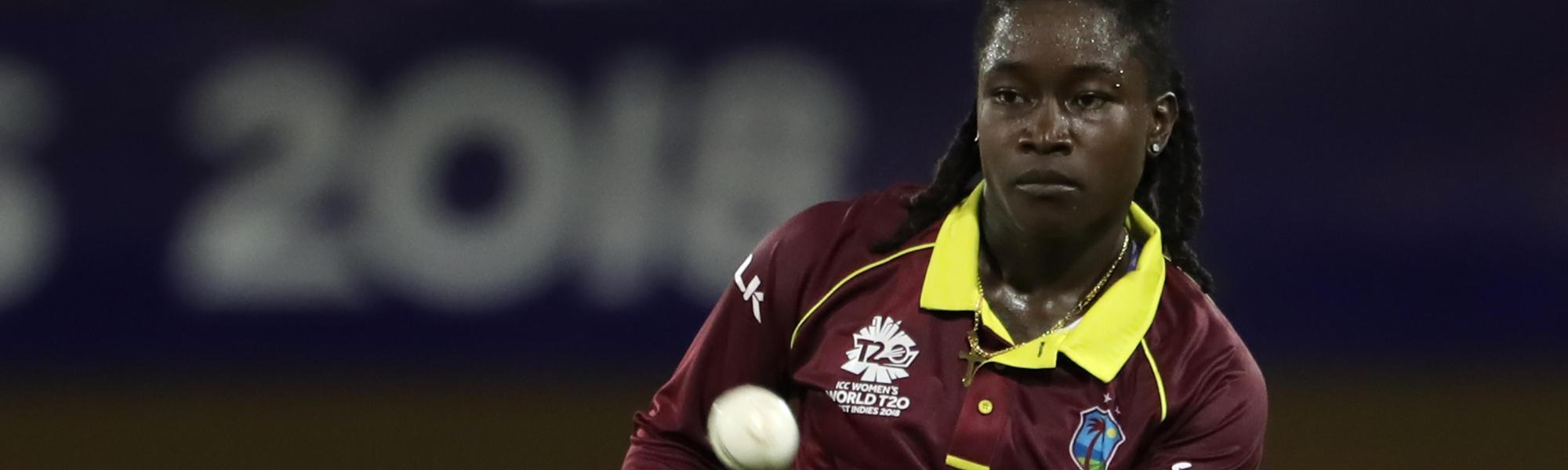 Deandra Dottin of the Windies during match 3, Windies Women v Bangladesh Women on November 9, 2018 in Providence, Guyana.