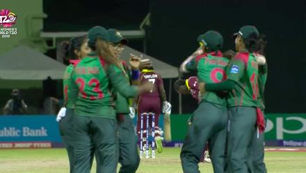 WT20 Match 3: Stafanie Taylor falls to Rumana Ahmed