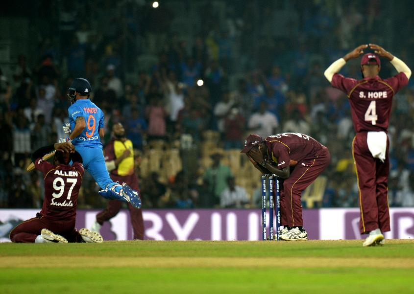 Windies were distraught at their last ball misfield