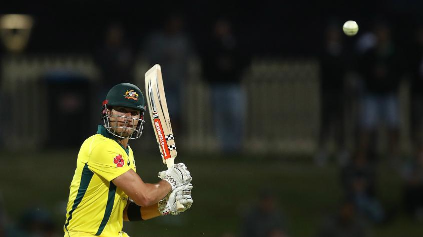 Marcus Stoinis helped Australia rebuild after early losses with a half-century