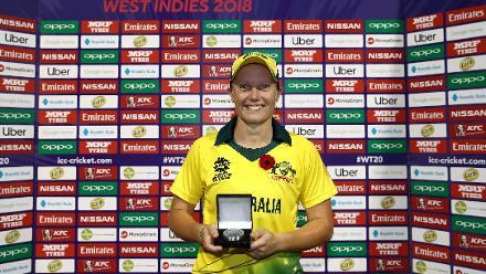 Australia v Ireland, 6th Match, Group B, ICC Women's World T20 at Providence, Nov 11 2018.