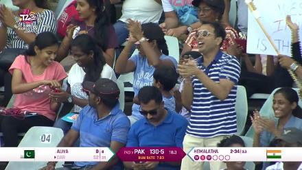 IND v PAK: Nida Dar falls to Hemalatha for 52