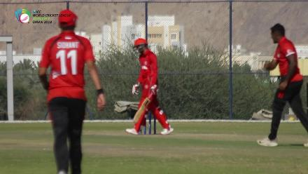 WCL Div 3 – Denmark fall of wickets against Singapore