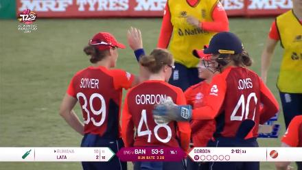 ENG v BAN: Kirstie Gordon sends back Rumana Ahmed