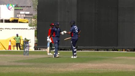WCL- Div 3 - USA's Aaron Jones makes a half-century against Kenya