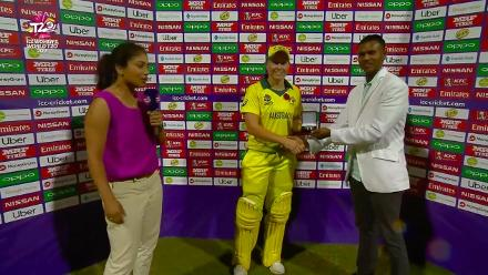 AUS v IRE: Alyssa Healy, Player of the Match presentation