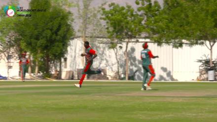 WCL Div 3 – Kenya bowler Elijah Otieno picks up a USA wicket