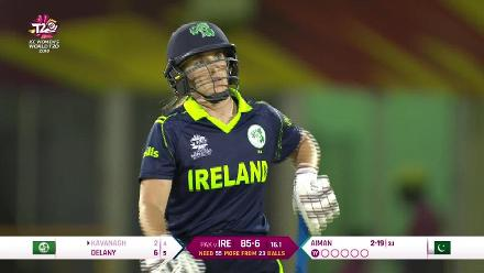 PAK v IRE: How the Ireland wickets fell