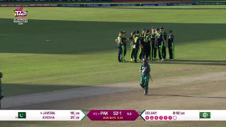 PAK v IRE: Ayesha Zafar run out by Isobel Joyce