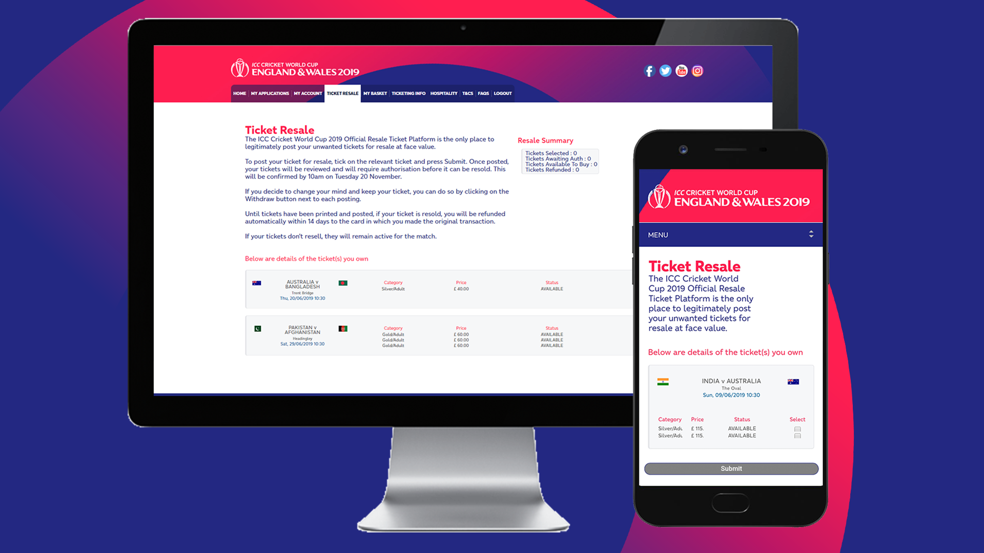 How To Sell Your Cricket World Cup 2019 Tickets On The Official