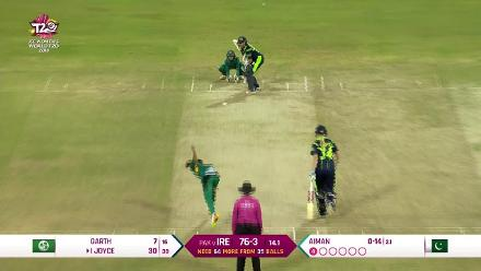 PAK v IRE: Ireland innings highlights