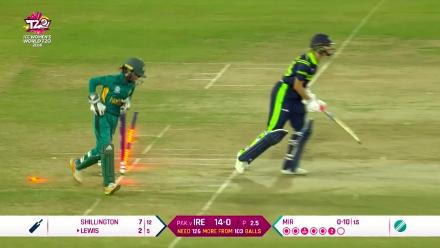 PAK v IRE: Gaby Lewis is stumped off Sana Mir