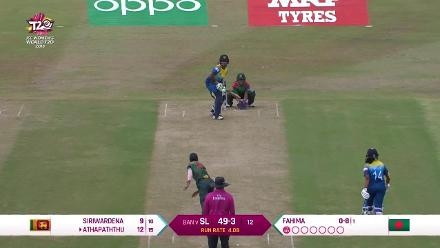 SL v BAN: Sri Lanka wickets