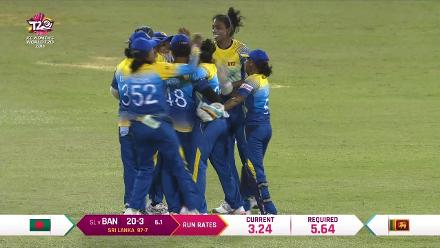 SL v BAN: Ayasha Rahman can't kick on