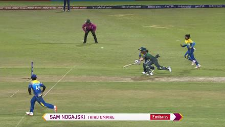 SL v BAN: Nigar Sultana Joty caught short of her crease