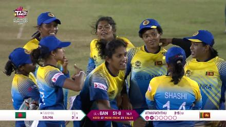 SL v BAN: Athapathuthu has Fahima Khatun lbw