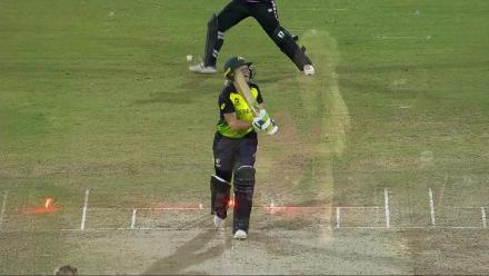 AUS v NZ: Healy bowled for 53 by Rowe