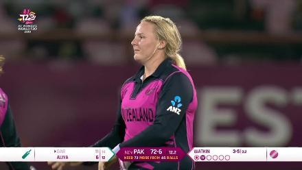NZ v PAK: Nida Dar is Jess Watkin's third wicket
