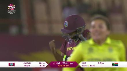 WI v SA: Sune Luus gets Natasha McLean to break a handy stand