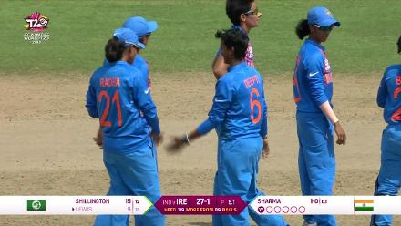 IND v IRE: Gaby Lewis bowled by Deepti Sharma