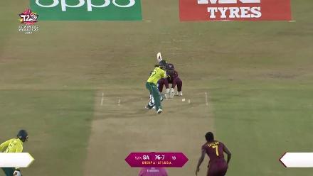 2eb9e847423 WI v SA  Stafanie Taylor dismisses Shabnim Ismail. Womens World T20