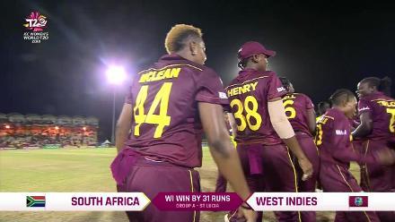 WI v SA: Windies celebrate 31-run victory