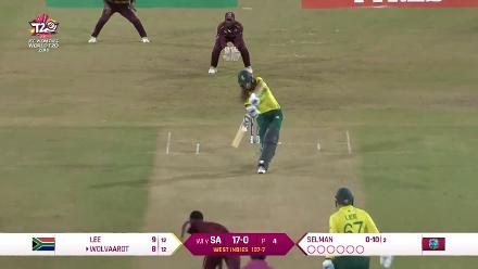 WI v SA: Laura Wolvaardt dismissed by Shakera Selman
