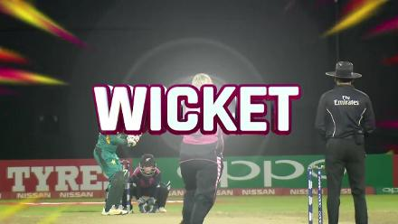 NZ v PAK: Bismah Maroof caught behind