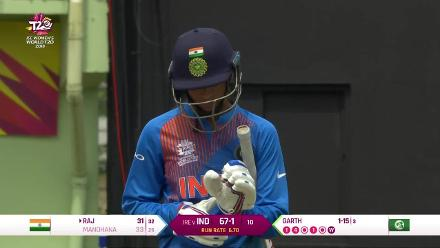 IND v IRE: Smriti Mandhana bowled by Kim Garth