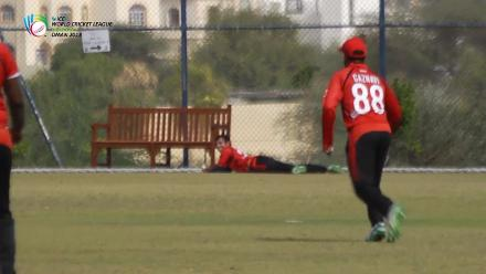 A fine catch by Singapore puts an end to NM Odhiambo's knock of 80