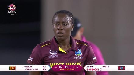 WI v SL: Hasini Perera bowled by Shakera Selman