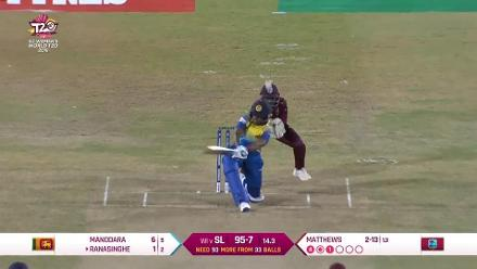 WI v SL: Matthews dismisses Ranasinghe to claim her third scalp