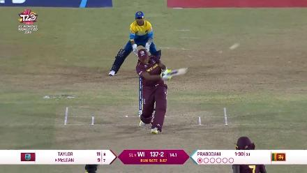 WI v SL: Natasha Mclean slams a massive six over mid-wicket