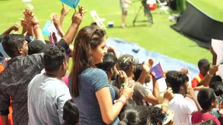 IND v AUS: Indian fans in Guyana cheer their team on