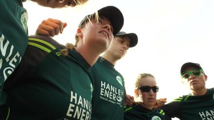 NZ v IRE: Laura Delany team talk